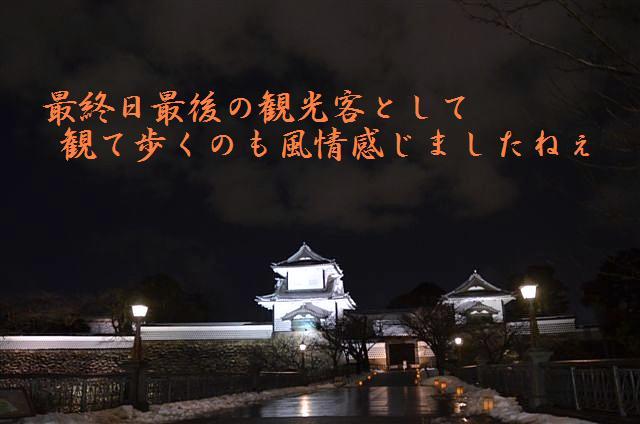 金沢城・兼六園ライトアップ ~冬の段~ (16)