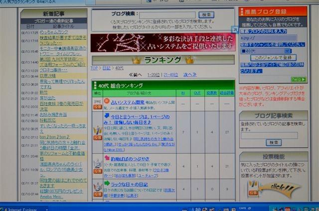 20140213 夕方 くる天 40代 総合ランキング1位