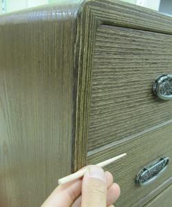 桐たんす 木釘