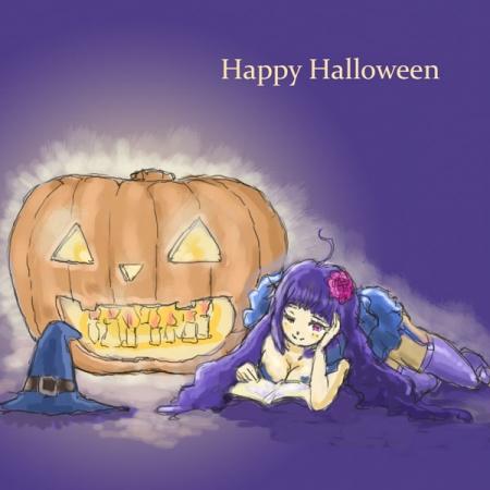 ハロウィンの本好き魔女