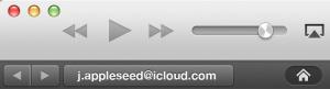 iTunesに表示されるApple ID