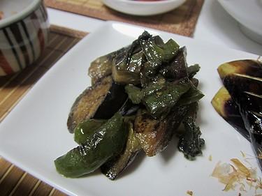 20120709茄子のしそ味噌炒め