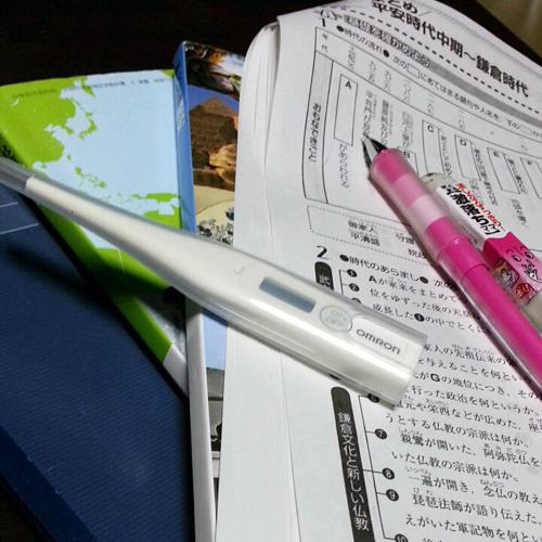 発熱中の宿題