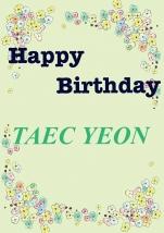 テギョンさんお誕生日