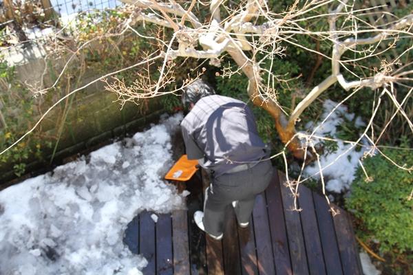 IMG_8035ウッドデッキの雪