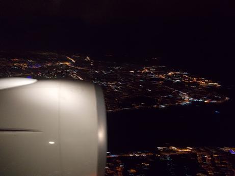 空港へ到着