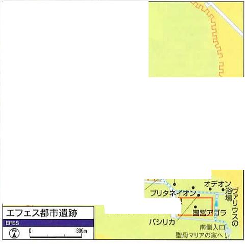 エフェソス遺跡案内図