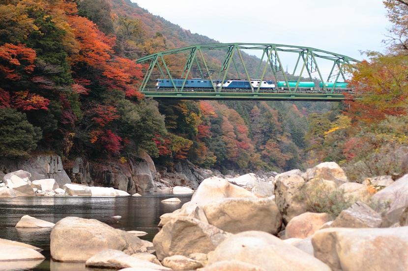 赤色黄色そして緑色・・・機関車の青  グッとくるぜ!