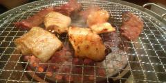 お肉調理中