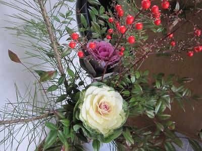 お正月飾り 葉牡丹