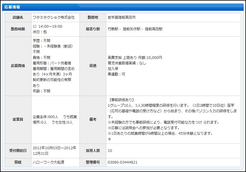 ワタミタクショク 陸前高田 653円