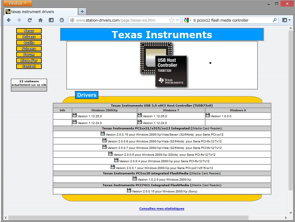 Drivers Texas Instruments Windows 7