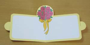飛び出す一筆箋 バラ花束