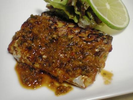 太刀魚のピリ辛焼き
