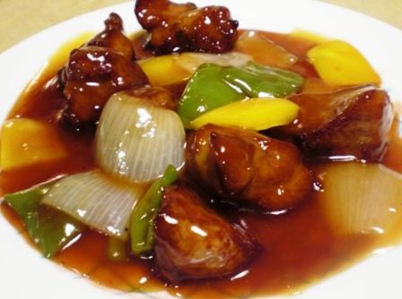 酢豚 丸皿