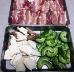 ゴーヤ エリンギ 豚バラ肉 材料