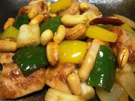 鶏肉とピーナッツ炒め拡大