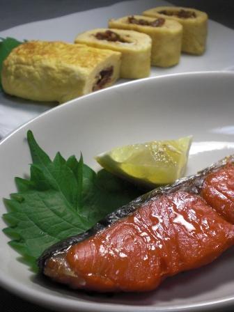 塩鮭と玉子焼き 縦