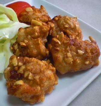 鶏もも肉のピーナッツ揚げ 縦改