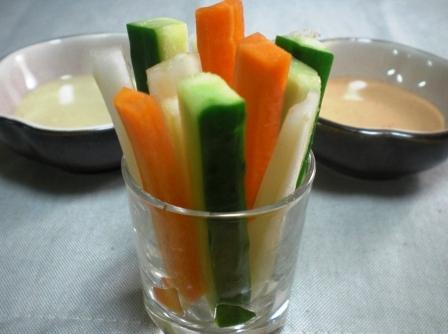 野菜スティック 二種ソース