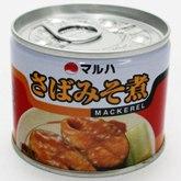 さばみそ煮缶 写真