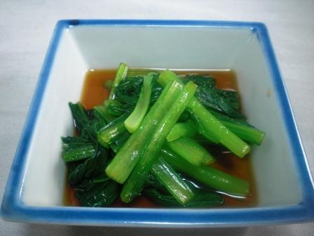 小松菜の中華風和え物