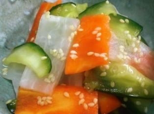 三色野菜の酢の物拡大