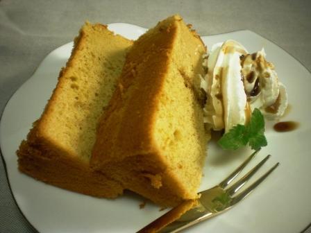 黒糖シフォンケーキ