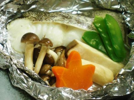 鱈と茸のホイル蒸し拡大