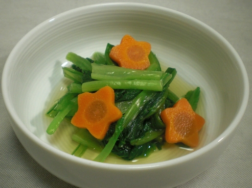 小松菜とにんじんの酢の物
