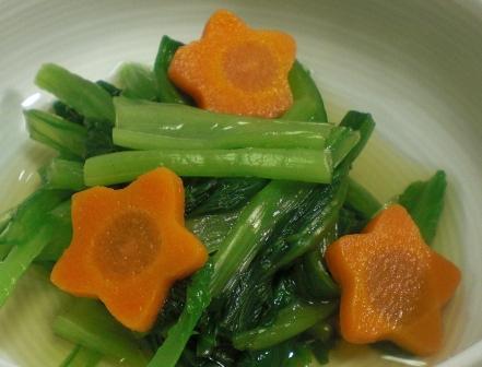 小松菜とにんじんの酢の物拡大
