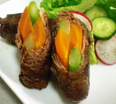 牛肉の野菜巻き拡大
