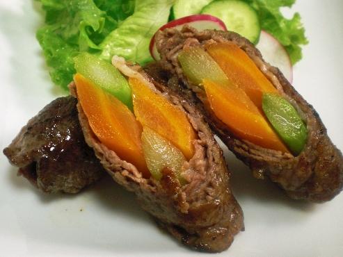 牛肉の野菜巻き大