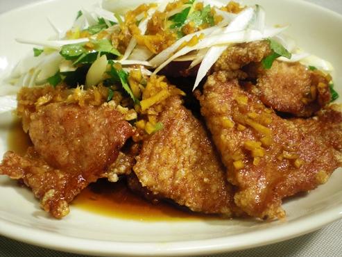 豚肉の唐揚げ葱ソース(B)