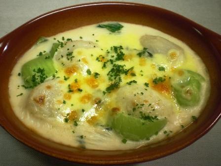 里芋と青梗菜のグラタン(B)