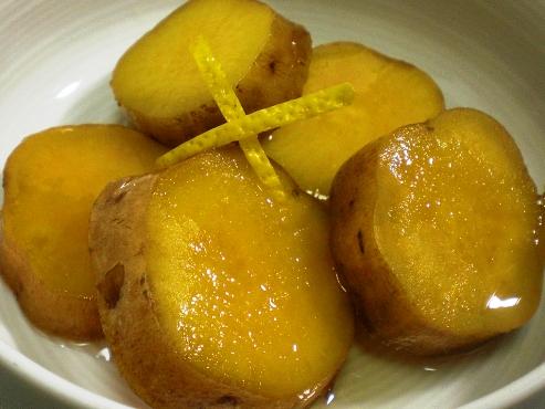 安納芋の柚子煮拡大