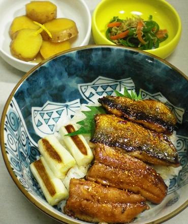 秋刀魚の蒲焼三品