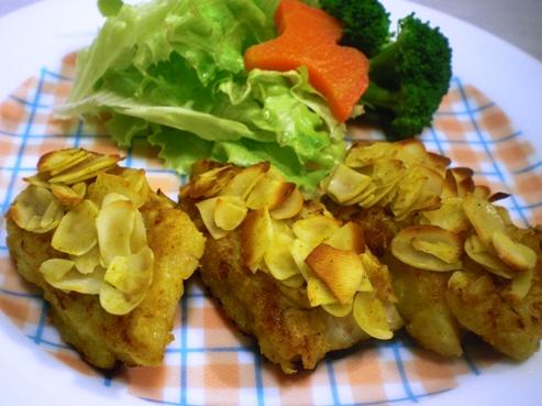 鱈のカレーアーモンド焼き(B)