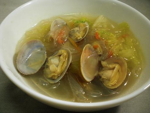 あさりと白菜、春雨スープ(B)