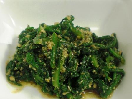 菊菜の胡麻和え大