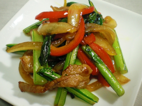小松菜と玉ねぎ炒め大