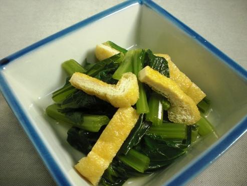 小松菜とお揚げの炊いたん大