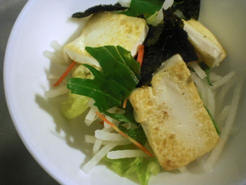 焼き豆腐の大根サラダ