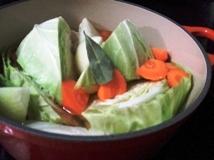 キャベツのスープ煮仕込
