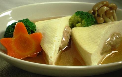蒸し豆腐大