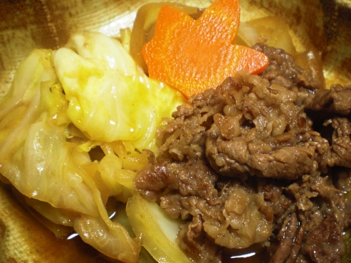 キャベツと牛肉の炊いたん(B)