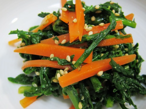 菊菜のナムル大