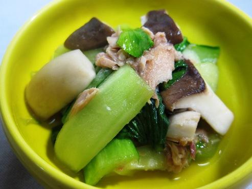青梗菜とツナの炊いたん(B)