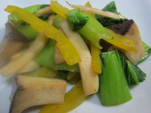 青梗菜とエリンギの炒め大
