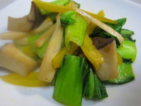 青梗菜とエリンギ炒め(B)